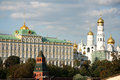The Big Kremlin Palace and The Ivan the Graet Bell Tower Royalty Free Stock Image