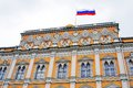 The big kremlin palace moscow kremlin unesco world heritage site view of a popular touristic landmark russian state flag Stock Images