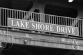 Big Lake Shore Drive sign on a Chicago bridge Royalty Free Stock Photo