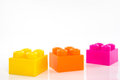 Big lego isolated from white background Royalty Free Stock Photography