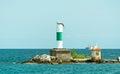 Big light house on a Michigan Lake Royalty Free Stock Photo
