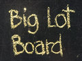 BIG LOT BOARD words Stock Photos