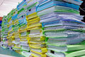 Big lot of document pile Royalty Free Stock Photo