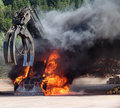 Big Machine on Fire Royalty Free Stock Photography