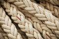 Big marine sea ropes background Royalty Free Stock Photo
