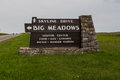 Big Meadows Sign in Shenanodah National Park Royalty Free Stock Photo