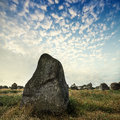 Big megaliths menhirs in carnac france Royalty Free Stock Photo