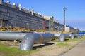 Big metal gas pipes Royalty Free Stock Photo
