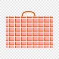 stock image of  Big migrant luggage icon, flat style