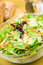 Big mixed salad with lettuce,carrot,cabbage Royalty Free Stock Photos