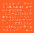 Big modern thin line icon set vector collection Royalty Free Stock Photography