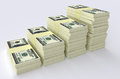 Big money stack. Finance concepts Royalty Free Stock Photo