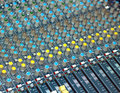 Big multichannel audio sound mixer Royalty Free Stock Photo