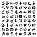 Big music icons set elegant vector icon for web and mobile Royalty Free Stock Photo