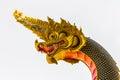 The big naga snake guarding thai temple Royalty Free Stock Images