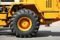 The big new yellow wheel Royalty Free Stock Photos