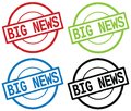 BIG NEWS text, on round simple stamp sign. Royalty Free Stock Photo