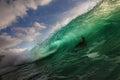 Big ocean wave in beautiful light