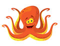 Big octopus illustration of a Stock Photo
