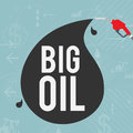 Big oil industry concept vector illustration of Royalty Free Stock Photography