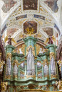 Big old beauty organ basilica jasna gora sanctuary czestochowa poland Royalty Free Stock Images