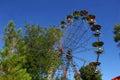 Big old ferris wheel in amusement park uzbekistan Royalty Free Stock Photos