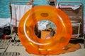 Big Orange Plastic Inner Tube ...