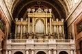 Big organ in Esztergom basilica, interior of religious architect