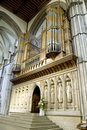 A big organ from Rochester cathedral, Kent, UK. Royalty Free Stock Photo