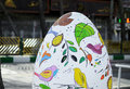 Big painted plaster egg at street one of the symbols of persian new year's arrival Royalty Free Stock Photography