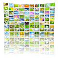 Big Panel of TV Stock Photos