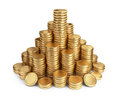 Big pile of coins. 3D Icon  Royalty Free Stock Images