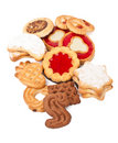 Big pile of cookies Royalty Free Stock Photo