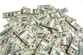 Big pile of money studio photography american moneys hundred dollar Royalty Free Stock Photos