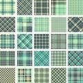 Big plaid pattern set Royalty Free Stock Photo