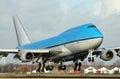 Big plane landing Royalty Free Stock Photo