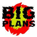 Big plans sticker Royalty Free Stock Photo