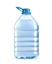 Big plastic bottle of potable water