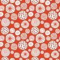 Big polka dot red sketch pattern