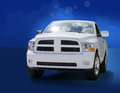 Big powerful white truck Stock Images