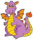 Big purple dragon Royalty Free Stock Photo