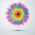 Big rainbow flower with speaker Stock Photography