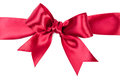 Big red bow made from ribbon Royalty Free Stock Photography