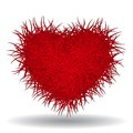 Big red bushy heart isolated on white background this is file of eps format Royalty Free Stock Photography