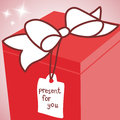 Big red gift box Royalty Free Stock Photo