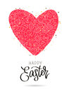 Big red heart with Easter icons