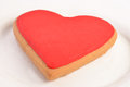 Big red heart made of cookie for saint valentine s day Royalty Free Stock Image