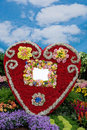 Big red heart made of flowers Royalty Free Stock Photo