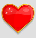 Big red heart vector illustration Royalty Free Stock Photo