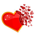 Big red heart vector illustration Royalty Free Stock Photos